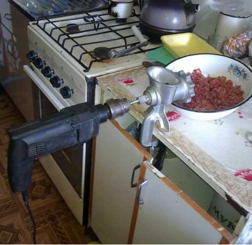 Как сделать из дрели мясорубку - Pizza e Birra
