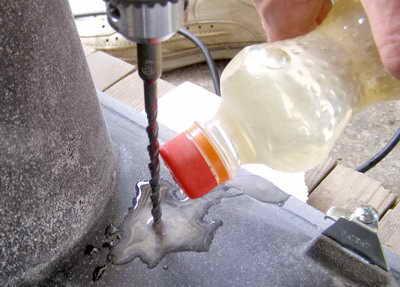 Как сделать отверстие в гранитной мойке